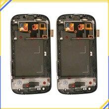 Для Samsung Galaxy S III S3 I9300 I9300i I9301 I9301i I9305 ЖК-дисплей Дисплей Сенсорный экран телефона планшета Ассамблеи Запчасти для авто