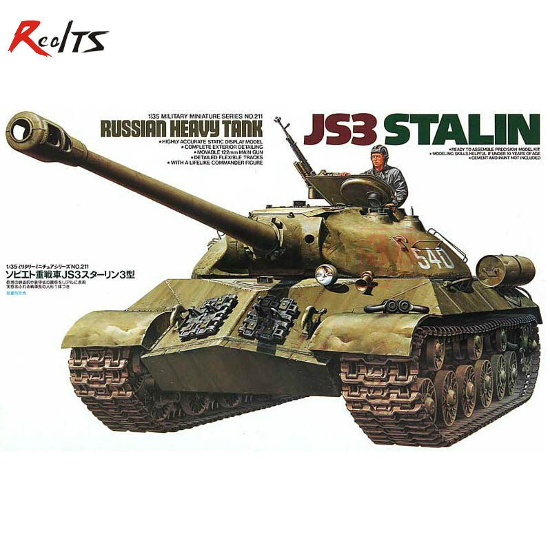 RealTS Tamiya model 35211 1/35 JS3 STALIN RUSKA HEAVY TANK plastični model komplet