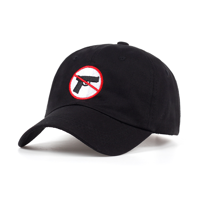 No Gun Allowed embroidery unisex Baseball Caps women adjustable cotton black snapback hats men outdoor casual caps wholesale