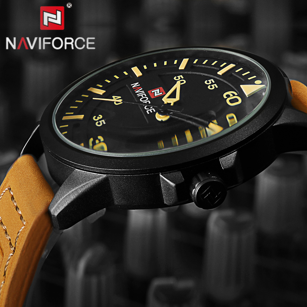2018 NAVIFORCE Brand Men's Fashion Casual Sport Watches Men Waterproof Leather Quartz Watch Man military Clock Relogio Masculino benyar brand men watch fashion casual sport watches men waterproof leather quartz watch man military clock relogio masculino