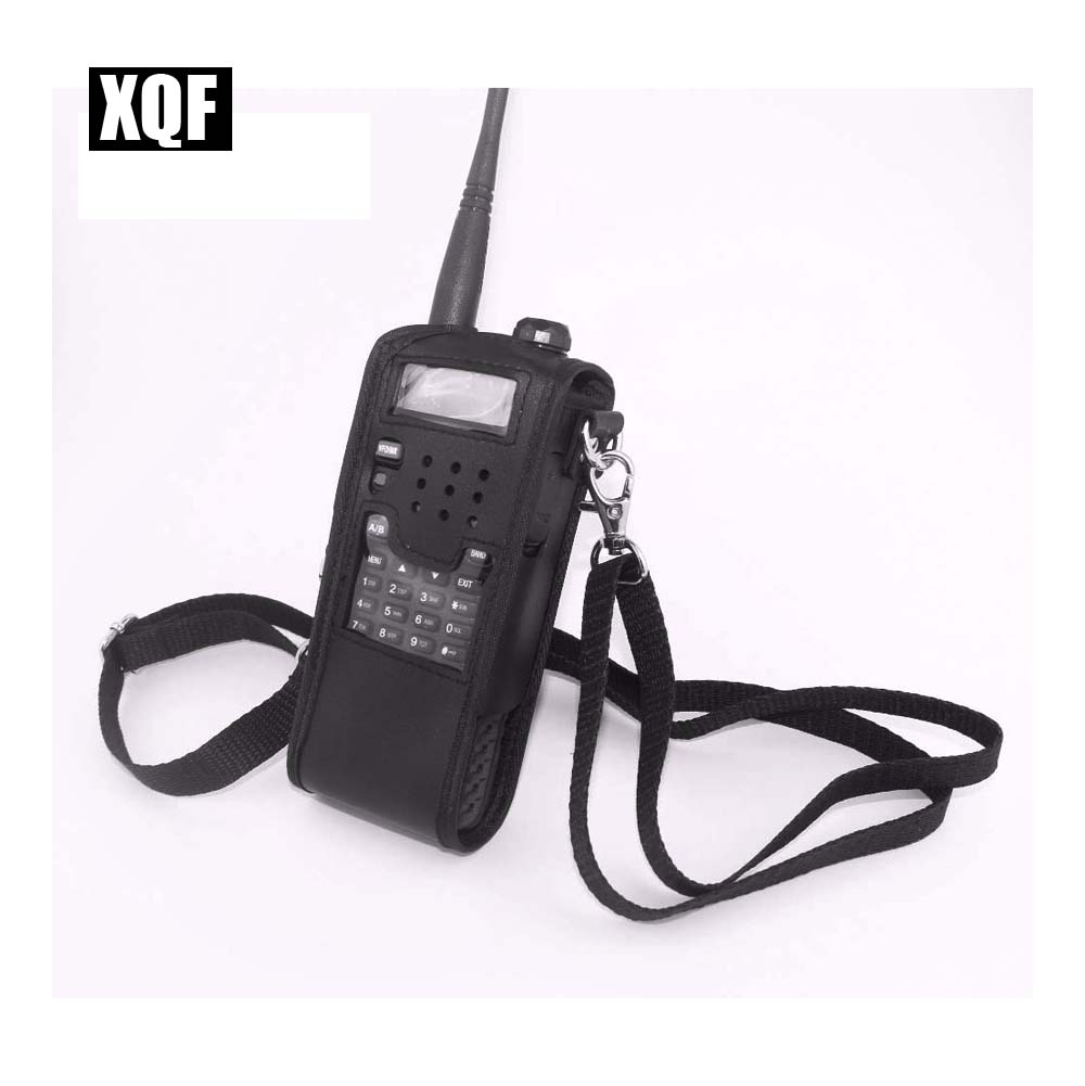 XQF Extended Leather Soft Case For Baofeng UV-5R(3800 Mah) TYT TH-UVF9 TH-F8 TH-UVF9D Walkie Talkie