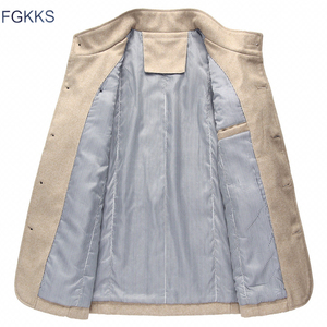 Image 4 - Мужская повседневная куртка FGKKS, ветровка с воротником стойкой, 2019
