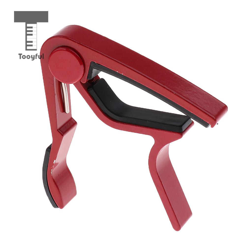 Tooyful Acoustic Electric Guitar Capo Trigger Quick Change Key Clamp Capo