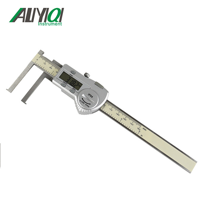 10-150mm inside groove electronic digital display caliper with knife edge with flat point плед edge point yd201504