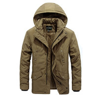 WINTER MEN'S NEW CASUAL PLUS CASHMERE WARM PARKAS And Coats MEN MILITARY SOLID Hooded FASHION MENS PARKAS MULTI POCKET