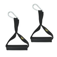 1 Pair Extreme Resistance Bands Ultra Heavy Duty Handles With Durable Carabiner And Super Strong Nylon