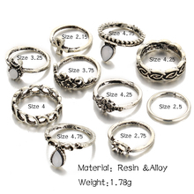 Ring Sets for Women Boho Beach Vintage Style
