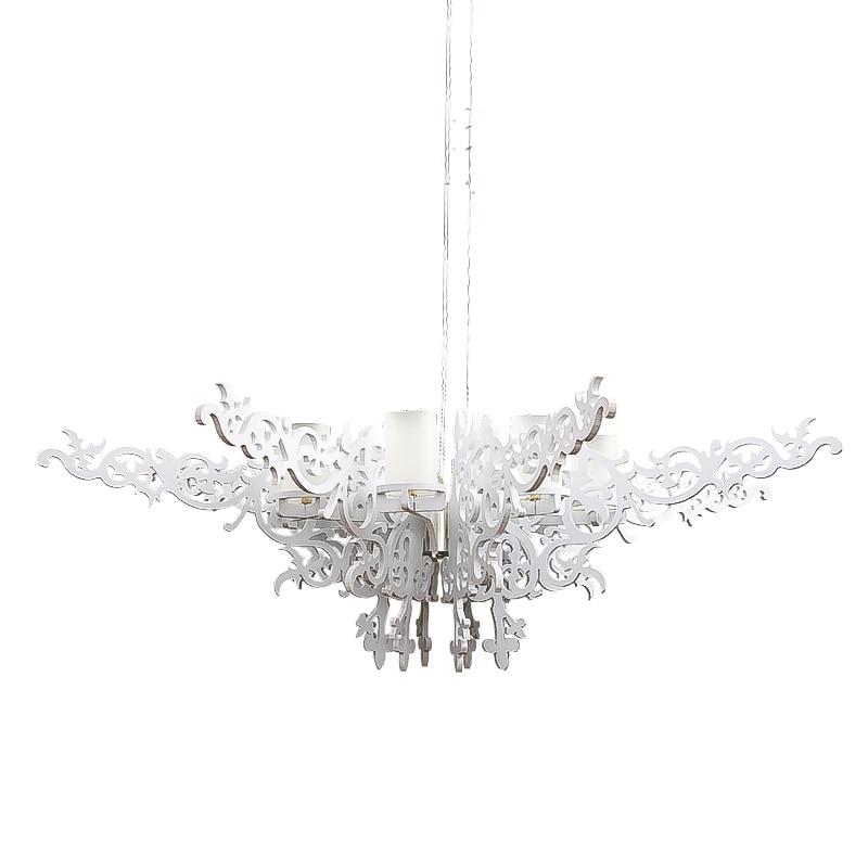 GZMJ Wonderland Angel Wings Modern Chandelier Milan European Elegance Lamp White Big Size G9 Lighting 110V/220V 2018 Home ight modern elegance