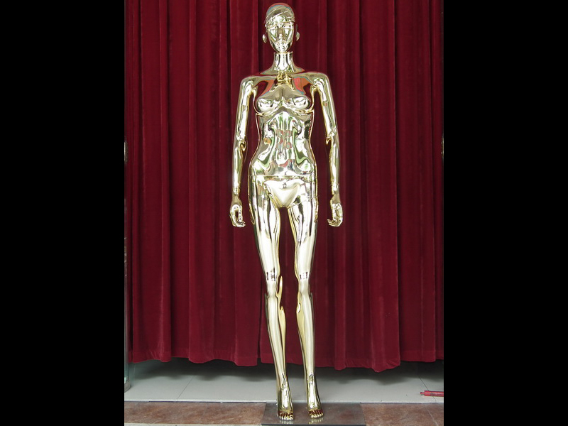 The Environmental protection materials, ABS plastic female CHROME GOLDEN MANNEQUINS with eggs head