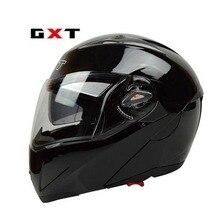 GXT full face motorcycle helmet double lens flip up helmet  off road racing moto capacete