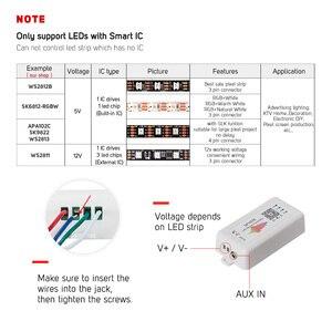 Image 2 - Светодиодный контроллер SP107E, Bluetooth Pixel IC SPI Music через приложение для телефона, для LPD8806 WS2812 SK6812 SK9822 RGBW APA102, строка