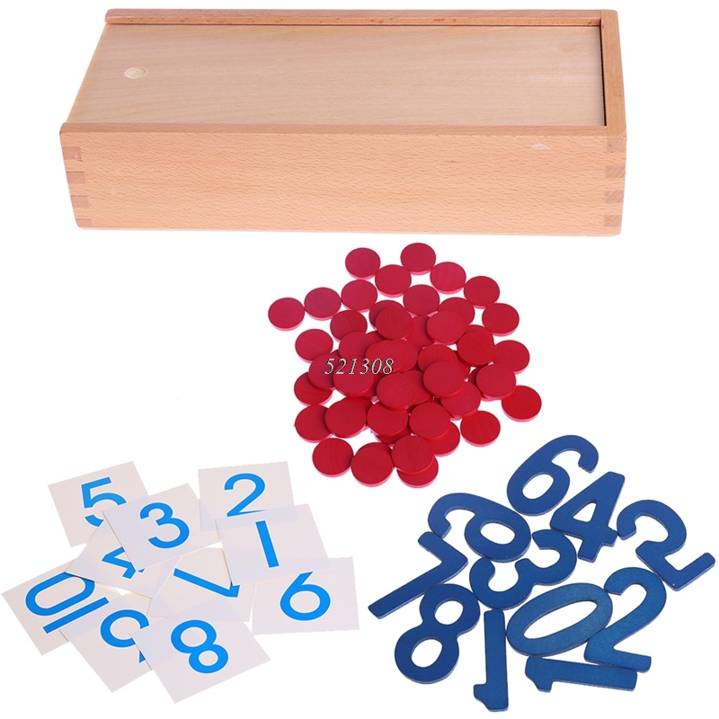 Baby Toy Montessori Cards & Counters Math Number Early Childhood Education Preschool Training Kids Toys Brinquedos Jugu MAY17_35
