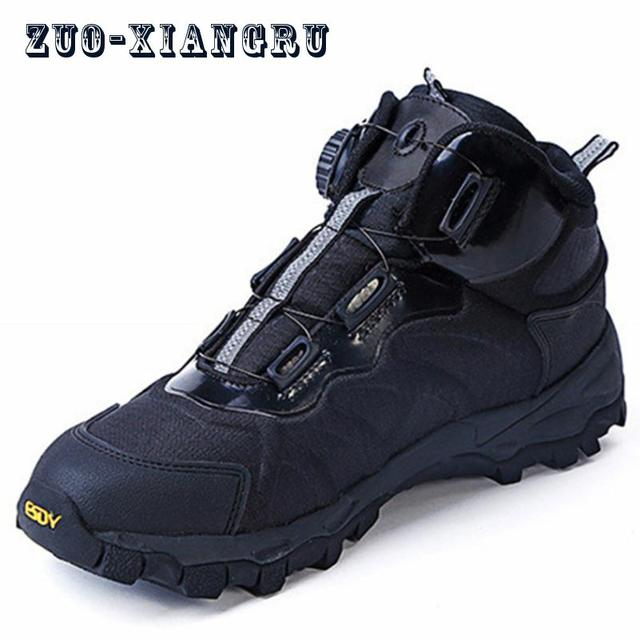 Winter Men Lightweight Military Tactical Boots Work shoes Men's Outdoor Fast Walking Autometic Lace-up Desert Army Combat Boot