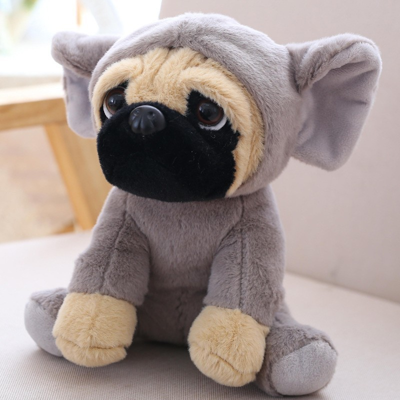 Cute The SharPei Turned Dog Doll Plush Toy Hat Dog Doll Simulation Belldog Pug Stuffed Animals Toys For Children Christmas Gifts