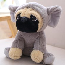 cd1218331ed Cute The SharPei turned dog doll plush toy hat dog doll simulation belldog  Pug Stuffed animals