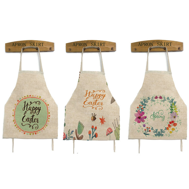 2017 Lovely Rabbit Easter Cooking Apron Funny Novelty Bbq -5282
