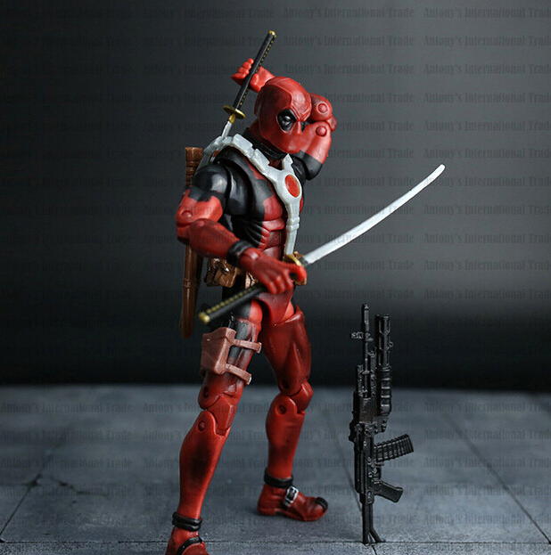 Deadpool Action Figure Red Color 6 inches Classic Edition 5