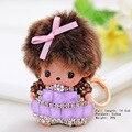 2016 nueva caliente venta de regalos navidad Monchichi llaveros Baby Girl muñecas colgantes de los encantos del bolso coche buscador dominante anillos