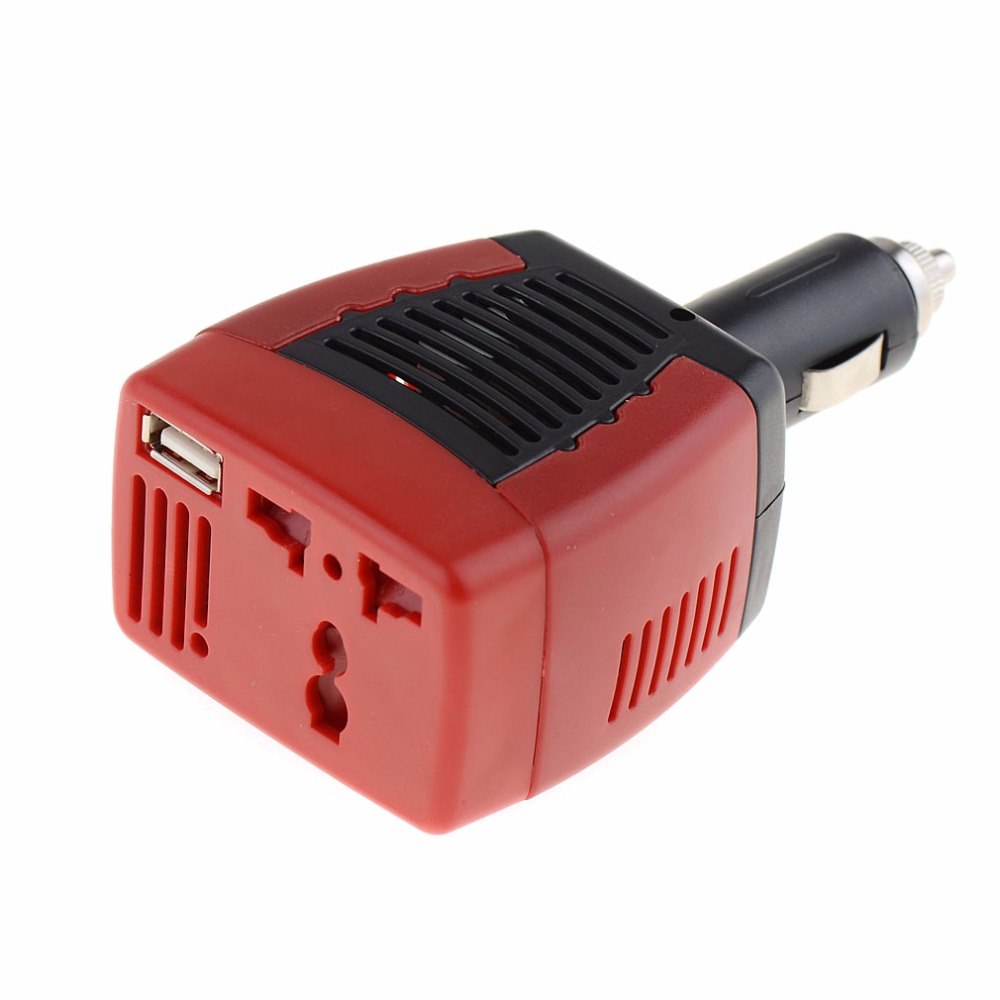 Portable Car Inverters DC 12V to AC 220V With 5V USB Charger Port Cigarette Lighter Car Power Inversor 75W Converter bridna 150w cigarette lighter car charger converter dc 12v to ac 110v 60hz 220v 50hz car power inverter adapter with usb port page 5