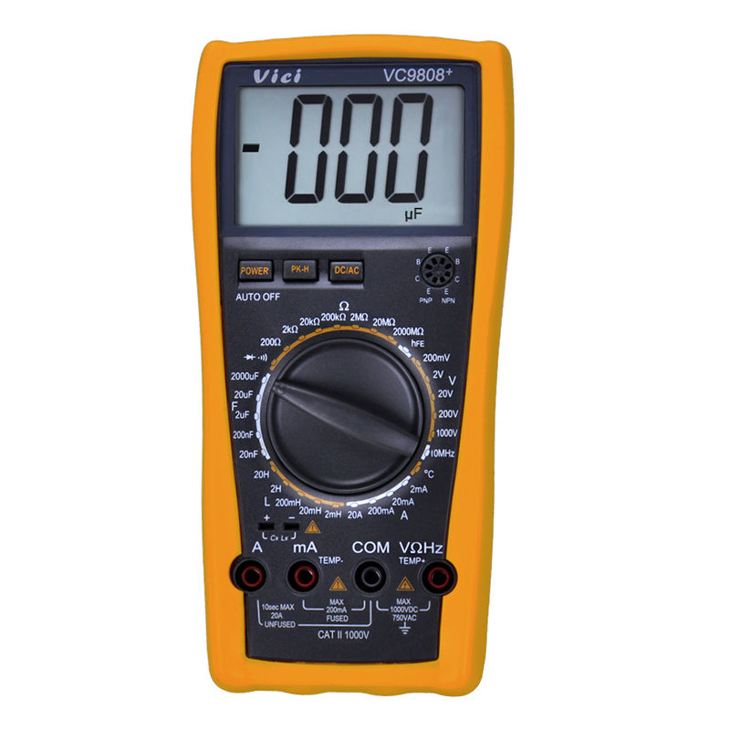 ФОТО VICI VC9808+ 3 1/2 Digital multimeter Electrical Meter Inductance Res Cap Freq Temp AC/DC Ohmmeter Inductance Tester
