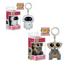 FUNKO POP фильм Pixar Wall-E& EVE робот Карманный Брелок ПВХ фигурка Коллекция Модель игрушки для детей подарок на день рождения