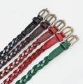 Hot Sale Colorful Woman Belts Female Braided Belt For Jeans