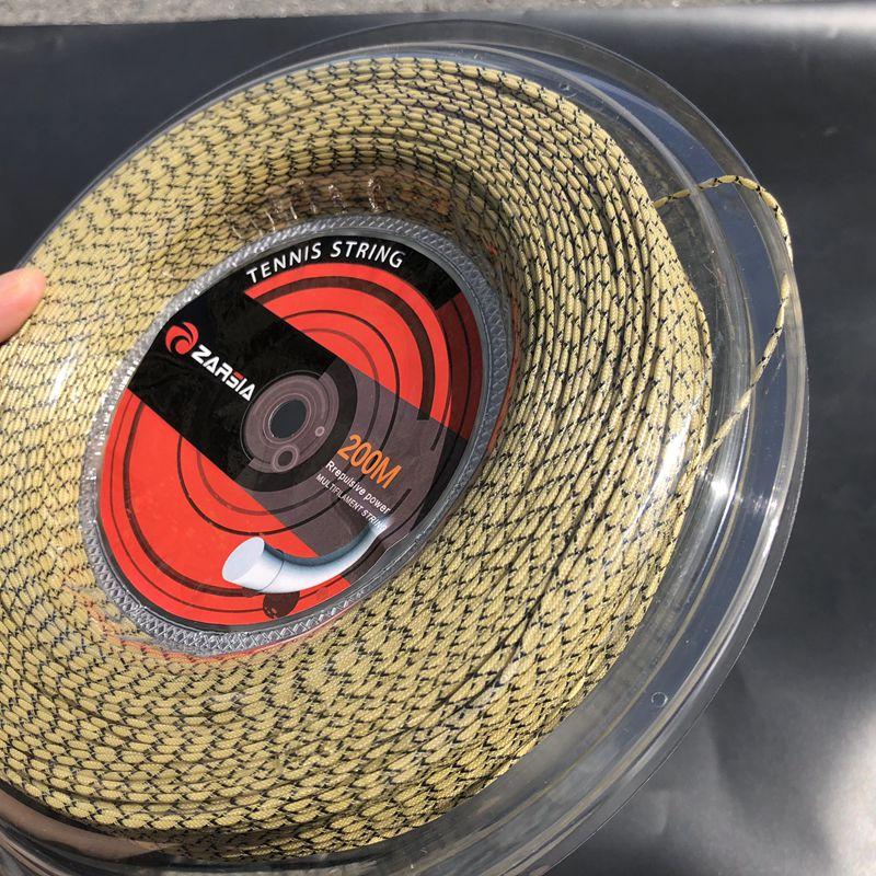 ZARSIA 200M synthetic flash Nylon tennis string 16G/1.35mm high elastic tennis rackets string squash strings tennis strings-in Tennis Accessories from Sports & Entertainment    3