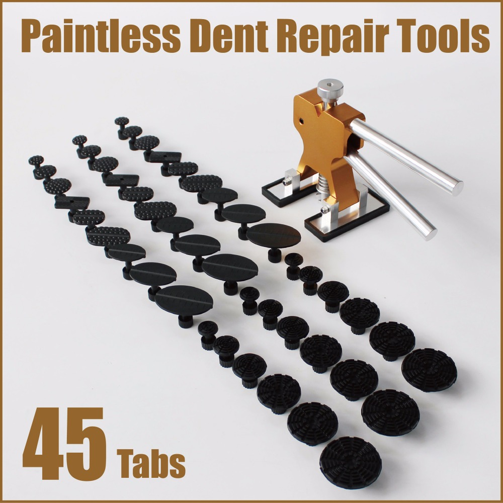 pdr tools paintless dent repair kit remove dents remover fix glue tabs puller suction cup car body works garage workshop box set pdr tool kit dent removal paintless dent repair tools straighten the dents bridge puller pulling bridge adhesive glue gun tools