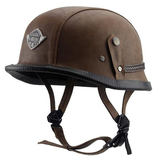 Motorcycle Helmet Unique 4 Types M L XL German Style Half Face German  Helmet Leather Vintage Motorcycle Helmet 6723a08555d32