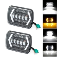 1pair 105W 5X7 7X6 inch Rectangular Sealed Beam LED Headlight With DRL for Jeep Wrangler YJ Cherokee XJ H6014 H6052 H6054 LED