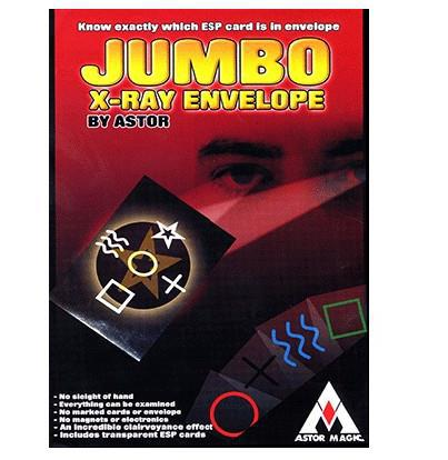 Jumbo X-Ray Envelope - Magic Trick,Accessories,stage magic props,close up,Mentalism,Illusions,super effect