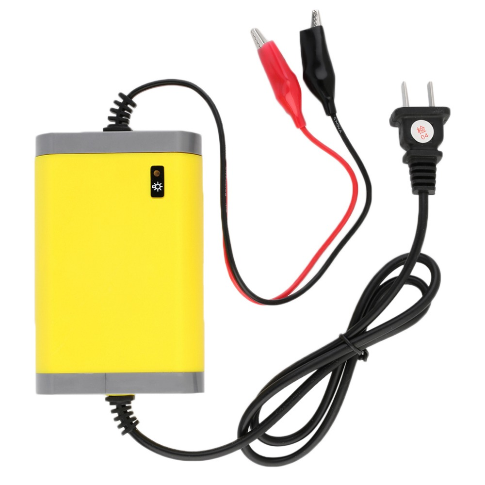 Portable Car Battery Charger 12v 2A Fully-automatic Car motorcycle battery charger Adaptor Power Supply US Plug~