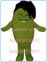 Талисман зеленый Bean талисмана мультфильм обычай Необычные костюмы аниме косплей комплекты Mascotte Необычные платье карнавальный костюм 2513