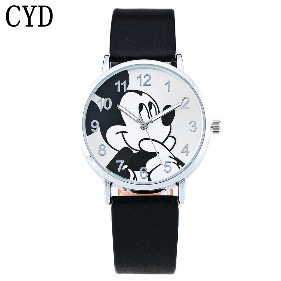 Children Cute cartoon mouse Pattern Fashion Watch 2017 Casual Leather Strap Clock Girls Kids Quartz Wristwatch relogio feminino joyrox minions pattern children watch 2017 hot despicable me cartoon leather strap quartz wristwatch boys girls kids clock