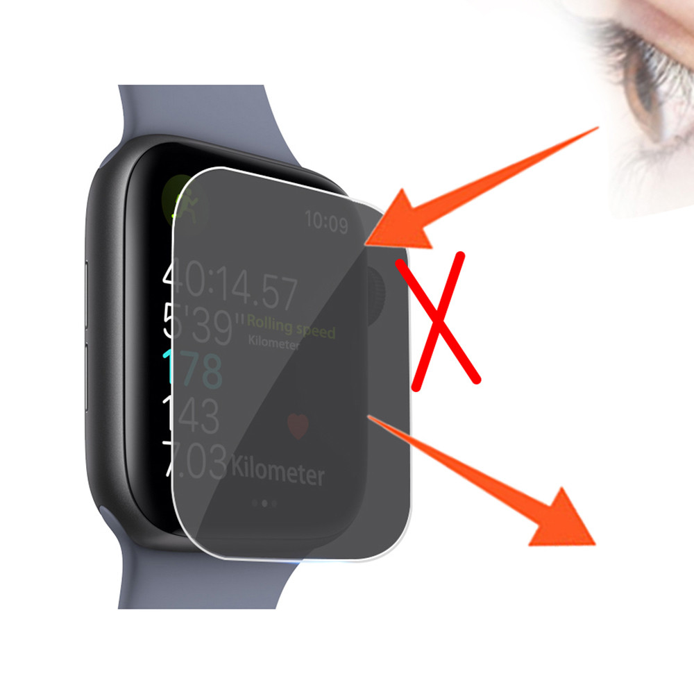 Image 4 - Privacy  TPU Film Screen Protector For Apple Watch Series 4 44mm Dropshipping Oct.5-in Smart Accessories from Consumer Electronics