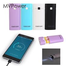 MVpower DIY External Portable Mobile Power 18650 Anti Charging Battery Charger Case Box Outdoor Travelling Powerbank Solar Gift