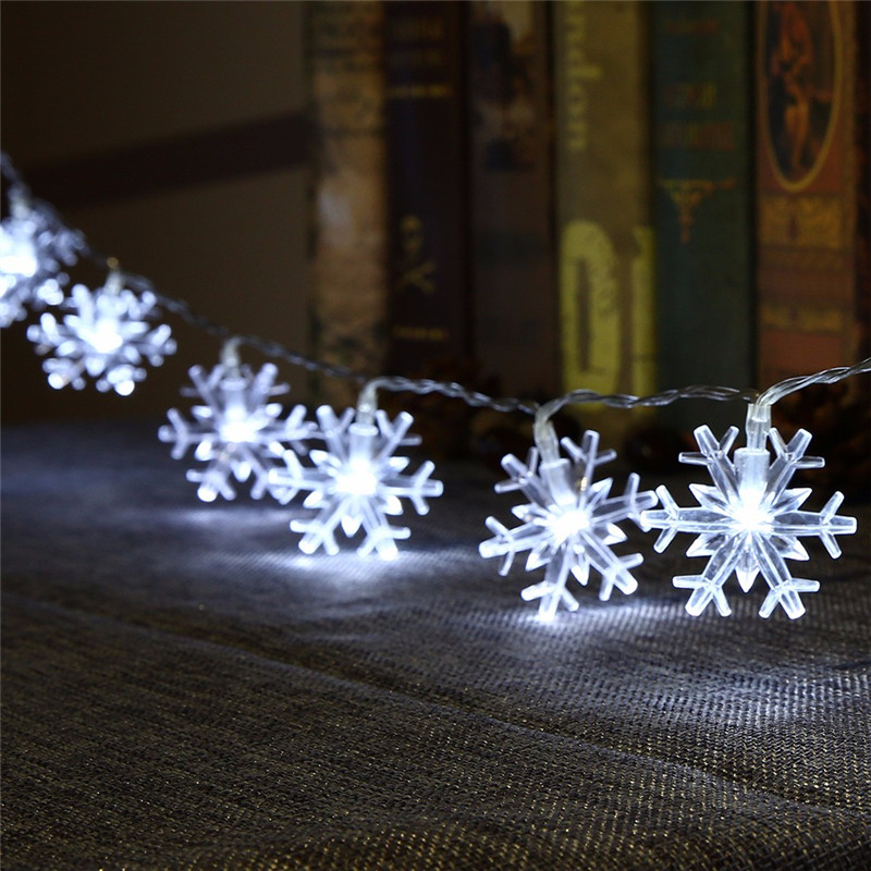 Snowflake 4M 20Led String Light Winter Gift Fairy Lantern Holiday Wedding Garden Party Christmas New Year Decor Kid's Love