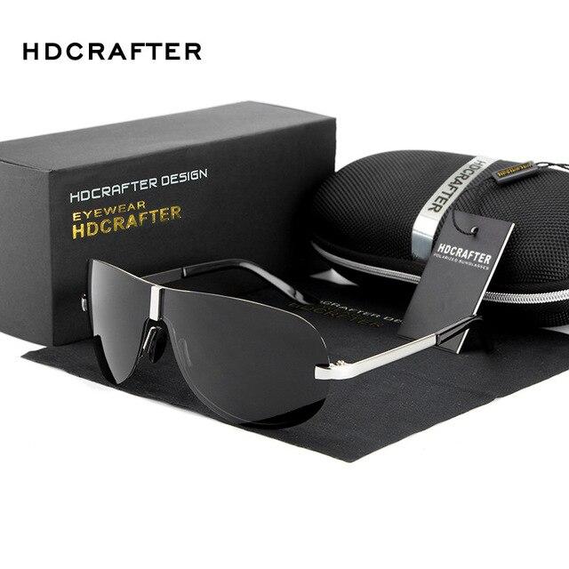 New 2017 HDCRAFTER Fashion Driving Car Fishing Uv Protection Wrap UV400 Man Sunglasses Antiglare E008