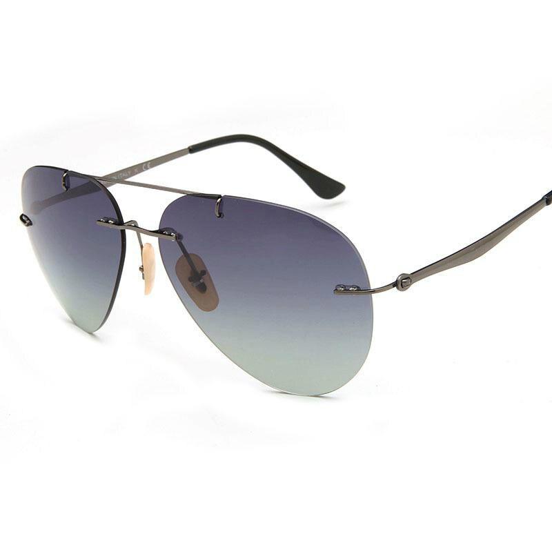 Viodream RB8055 mode Polaroid lentilles lunettes De soleil les plus légères 12G sans monture unisexe lunettes De soleil Oculos De Sol Feminino Gafas