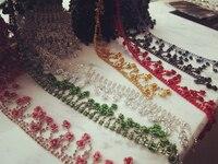 Exclusif modèles tridimensionnels givré roses multicolore diamant rose code bricolage à la main matériel chaîne en métal