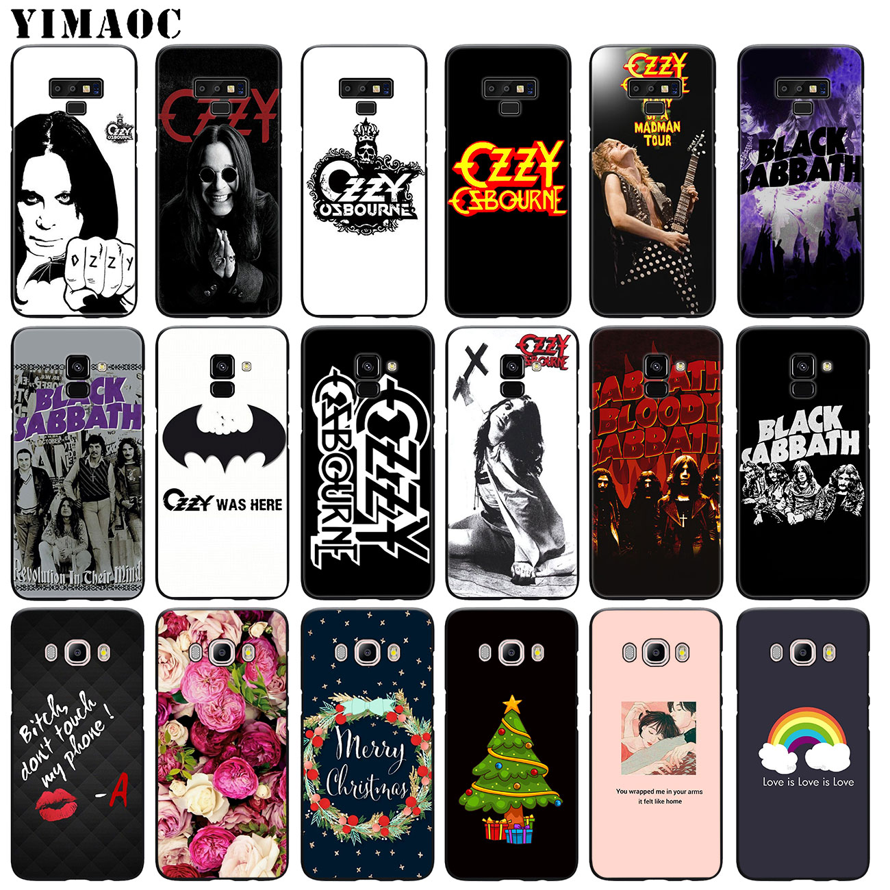 YIMAOC Ozzy Osbourne Soft Silicone <font><b>Phone</b></font> <font><b>Case</b></font> for <font><b>Samsung</b></font> Galaxy A6 A9 A8 A7 2018 A3 <font><b>A5</b></font> <font><b>2016</b></font> 2017 Note 9 8 10 Plus Lite image