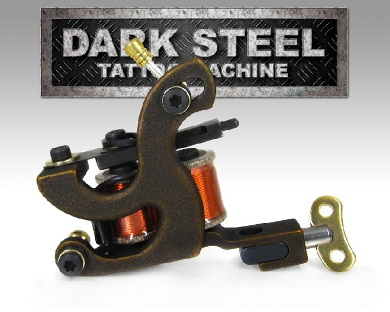 Dark steel coil tattoo machine B-FASTLINER