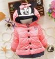 2015 niños ropa de abrigo Niños Chaqueta de Abrigo de algodón de invierno abrigos Con Capucha niños que arropan invierno de Down Parkas