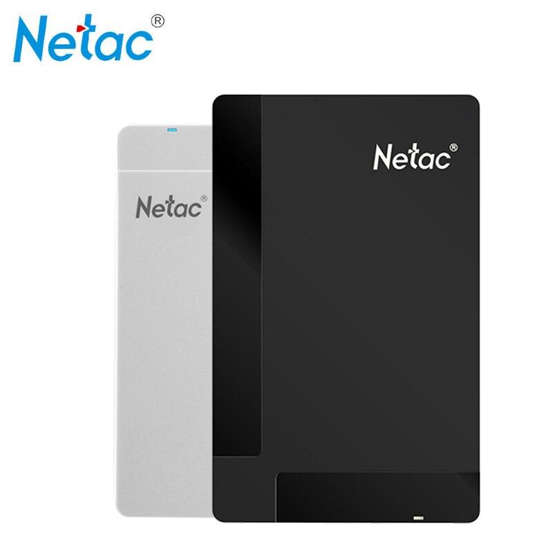 Original Netac K218 500B 1TB USB 3.0 External Hard Drives HDD High-Speed Shockproof Encryption Desktop Laptop Mobile Hard Disk
