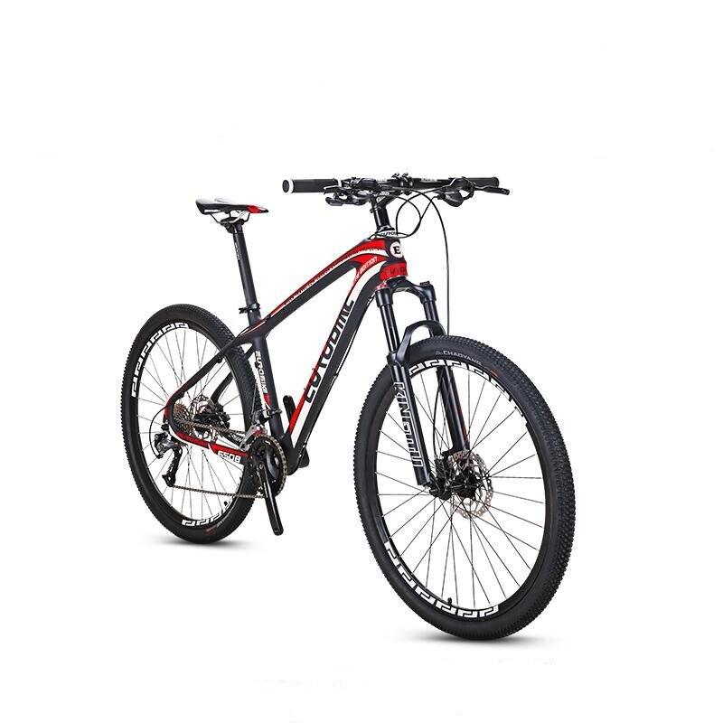 EUROBIKE 27.5*16.5 pouces Carbone Fibre Ville VTT 27 vitesse 27.5 pouces Roue Hydraulique De Frein Complet VTT Vélo