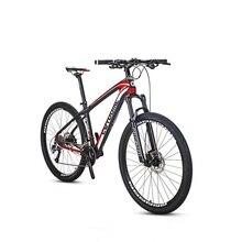 Eurobike 27.5*16.5 дюймов углеродного волокна город горный велосипед 27 скорость 27.5 дюймов колеса гидравлический тормоз полный mtb Велосипеды