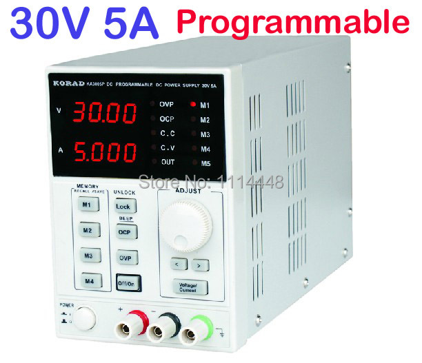 0-30V, 0-5A Output Digital High Precision Lab programmable Adjustable Digital Regulated DC Power Supply 30v 5a dc regulated power high precision adjustable supply switch power supply maintenance protection function kps305df