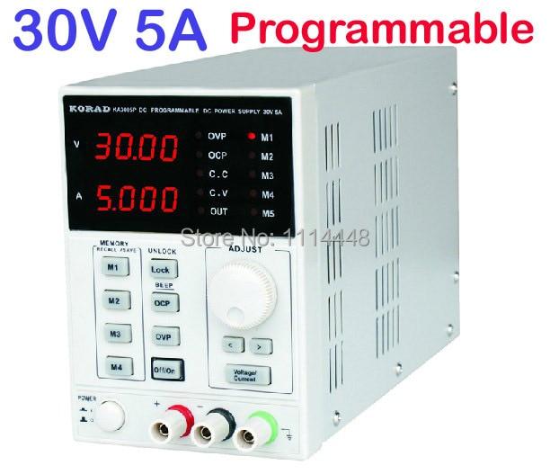 0-30V, 0-5A Output Digital High Precision Lab programmable Adjustable Digital Regulated DC Power Supply korad ka3010d 0 30v 0 10a high precision linear power supply adjustable digital regulated digital control dc power supply