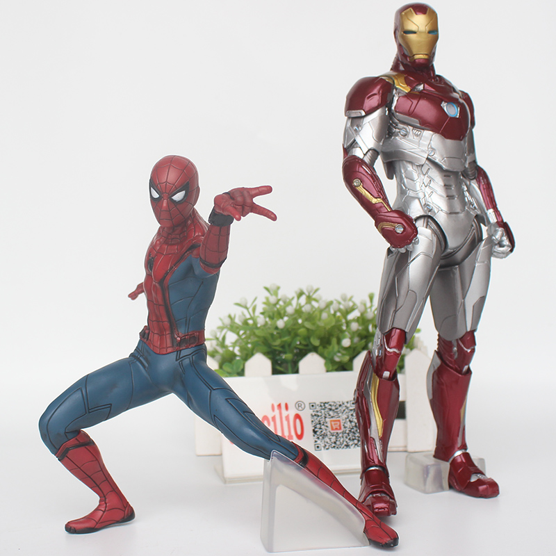 Spider-Man: Homecoming pvc Action Figure Spider man & Iron Man Collection Model Toys 18-26 cm