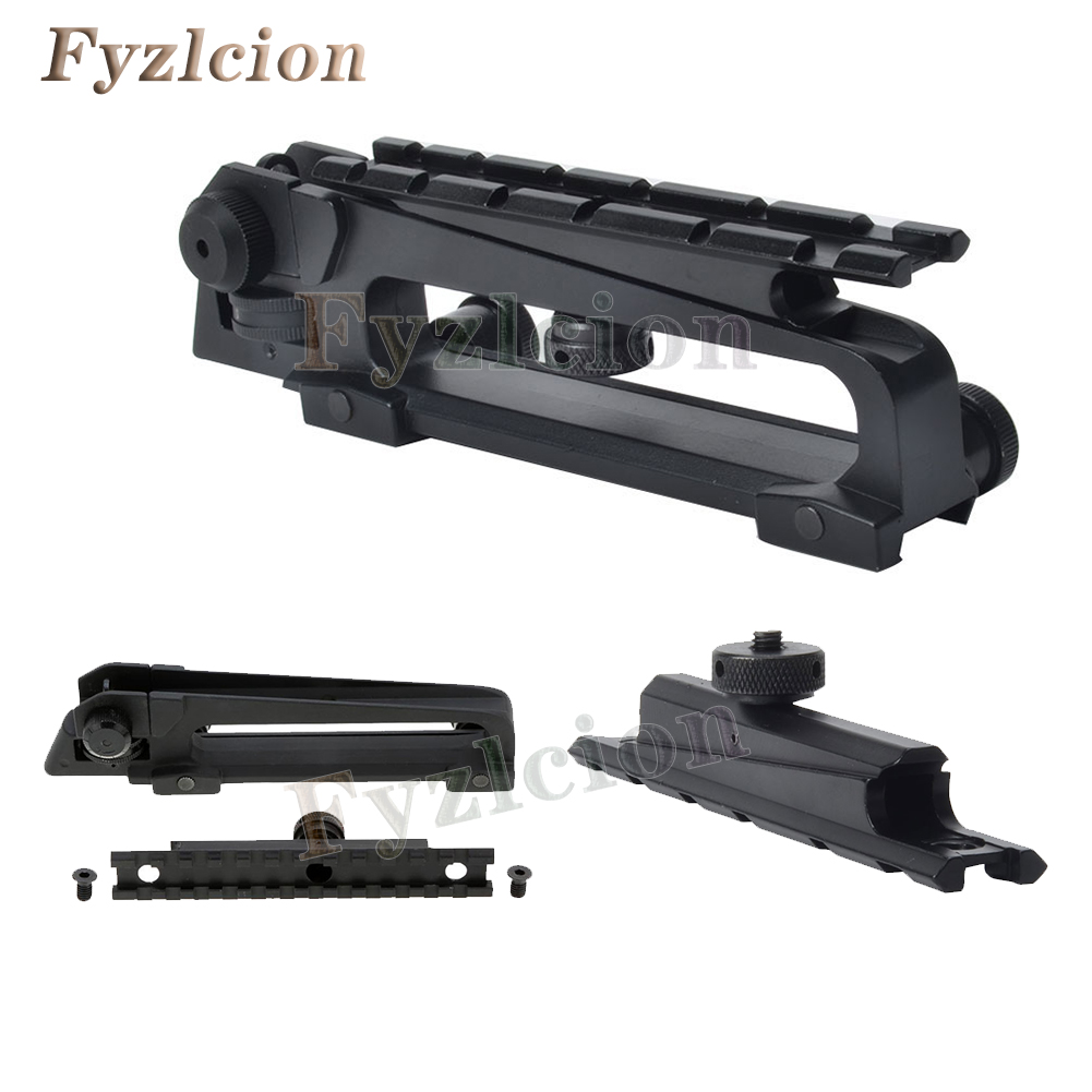 New Style Rifle Gun s Detachable Handle for Shipping and Rear View W / View through Picatinny Mount Combo M4 M16 AR15 ...